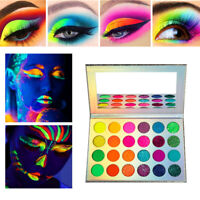 24 Colors Sequins Glow Eyeshadow Palette Fluorescent Eye Shadow Bueaty Cosmetics