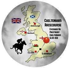 CHELTENHAM HORSE RACING ROUND SOUVENIR NOVELTY FRIDGE MAGNET / MAP / NEW / GIFTS