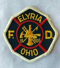 Vintage Fully Embroidered ELYRIA OHIO Fire Department U.S.A Cloth Patch