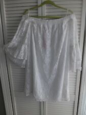 Lilly Pulitzer Resort White Palm Tree Lace Tobyn Tunic off The Shoulder Dress XS