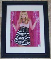 FLASH SUPER SALE Miley Cyrus Signed Autographed Framed 8x10 Photo GA GV GAI COA!