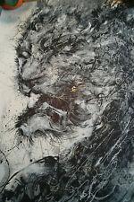 "Hua Tunan ""Way of the Tiger"" hand embellished signed print"