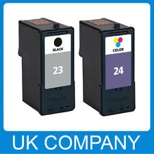 2 ink cartridges for Lexmark 23XL 24XL X4550 Z1400 Z1410 Z1420 Printer