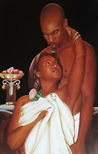 """African American Art """"For Your Eyes Only"""" Black Romance Print by Gerald Ivey"""