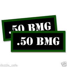 """.50 BMG Ammo Can 2x Labels Ammunition Case 3""""x1.15"""" stickers decals 2 pack"""