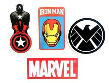 Iron Man Captain America Marvel Shield Skateboard Laptop Luggage Stickers Set