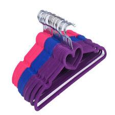 10PCS Coloured Velvet Coat Hangers Clothes Pants Closet Nonslip Space Saving