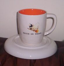 Rae Dunn Mug Pug Dog Trick Or Treat Coffee Cup New