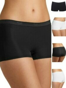 Sloggi Sensual Frais Court Slip 10092653 Taille Moyenne Culotte Boxer Noir Blanc