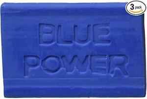 Blue Power Laundry CAKE SOAP 4.23oz (3 Bars) Fresh from Jamaica FREE SHIP