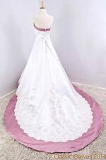 New Alfred Angelo Beaded Satin Strapless Wedding Dress Contrasting Trim - SALE!!
