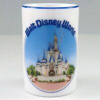 Walt Disney World Toothpick Holder Cinderella's Castle Ceramic Shot Glass Vtg