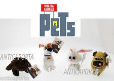 Peluche Portachiavi Pets Vita da Animali Originali Illumination  Max Duke Mel