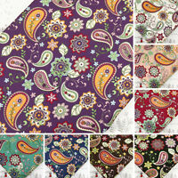 100% Cotton Fabric FQ Funky Paisley & Retro Floral Dress Quilting Patchwork VA30