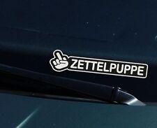 Zettelpuppe Finger Fun Aufkleber für die Frontscheibe - Spass Jdm Szene Sticker