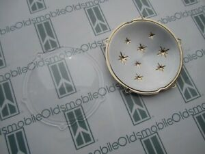 1956 Oldsmobile 88, 98 Hood Plastic Star Emblem with Clear Cover Kit