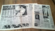 DAVID BOWIE 'at The Dorchester' 1972 2 part  interview UK ARTICLE / clipping