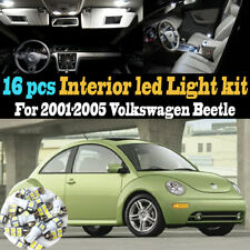 16Pc Super White Car Interior LED Light Bulb Kit Package for 01-05 VW Beetle