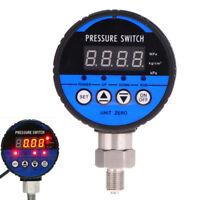 LED Digital Hydraulic Pressure Gauge Controller Switch 0-60Kpa NO/NC Alarm