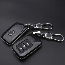 Carbon Fiber Black Key Cover for Lexus IS ES GS NX GX RX LX RC 200 250 300 350