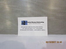 """20 GAUGE 304 STAINLESS STEEL PERFORATED SHEET 1/8"""" HOLES 12"""" X 24"""""""