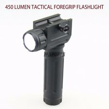 Tactical Flashlight 450 Lumens CREE LED Vertical Forward-Grip Weaver Picatinny