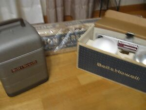 Bundle Vintage Bell & Howell Projector Model 253 AX Works!! incl Screen & Lights