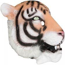 Tiger Latex Mask Mascot Halloween Pep Rally Animal - New