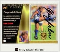 1997 Select AFL Ultimate Series Signature Redemption Card SC5 Glen Archer