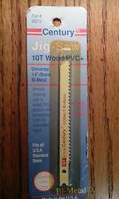 -LOT OF 2-Century Drill & Tool 6210 Univ Shank Cobalt Bi-Metal Jig Saw Blade 10T