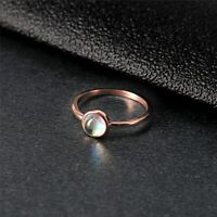 Mondstein Ring Rose Gold Damen Klassiker Echt Neu Sale