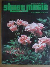 SHEET MUSIC MAGAZINE MARCH 1979 LOVE STORIES STANDARD EDITION