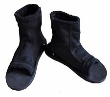 Naruto Konoha Ninja Village Black Cosplay Shoes Sandals Boots Costume Gift US9.5