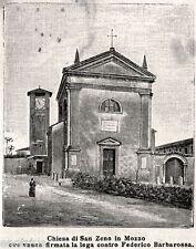 MOZZECANE:Chiesa di San Zeno in Mozzo:Firma Lega contro Federico Barbarossa.1895
