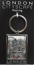 London Cityscape Metal Key Ring
