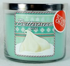 1 Bath & Body Works BUTTERCREAM MINT 3-Wick Filled Candle 14.5 oz