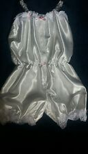 Beautiful Double Layer Satin Playsuit  CD TV **MANY COLOURS**