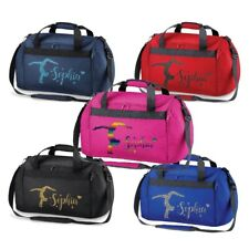Personalised Glitter Print Gymnast Handstand MINI HOLDALL Travel Gym Bag  - NEW