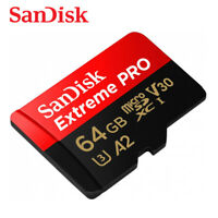 Sandisk Extreme PRO 64GB A2 V30 UHS-I U3 micro SD XC Card 170MB/s with Tracking