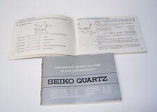 SEIKO Instruction watch Book Digital Duo-Display Quartz Cal.H601 Alarm Chronogra
