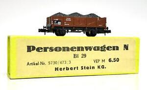 """(Arnold 4471) DB Offener Güterwagen mit Wechsel-Ladegut """"Kohle"""" und """"Stahl"""""""