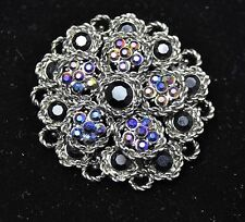Vintage Flower Style Brooches black / ab color high-quality Bouquet gift-12