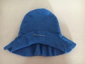 """ORIGINAL VINTAGE GABRIELLE DESIGNS MID BLUE HAT FOR 14"""" PADDINGTON EX CONDITION"""