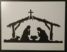 "Baby Jesus Bethlehem Manger Christmas 11"" x 8.5""  Stencil FAST FREE SHIPPING"