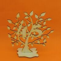Jubiläums Baum 45 Geburtstag, aus Holz 16 cm Lebensbaum Geschenk Hochzeit