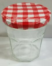 """Used Vintage Decagon """"Bonne Maman"""" 13 oz Glass Jelly Jar with lid - empty, clean"""
