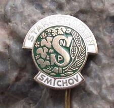 Antique Czechoslovakia Staropramen Brewery Prague Czech Lager Beer Pin Badge