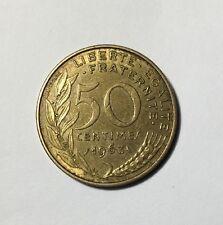 50 centimes LAGRIFFOUL 1963 col 3 plis Num11