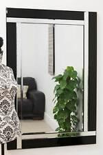 Wall Mirror Modern Frameless Design With Black Glass 120 x 80