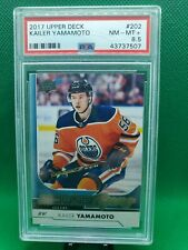 2017 Upper Deck Kailer Yamamoto Young Guns PSA 7.5 NM-MT + Rookie #202